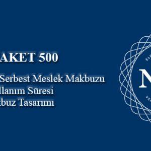 500 adet/kontör e-Serbest Meslek Makbuzu