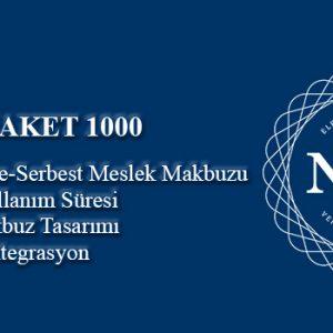 1000 adet/kontör e-Serbest Meslek Makbuzu