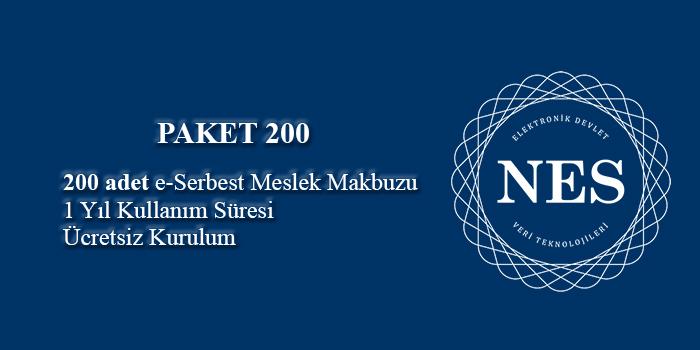 200 adet/kontör e-Serbest Meslek Makbuzu