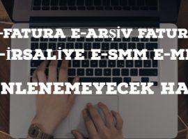 e-Fatura e-Arşiv e-İrsaliye Dizenlenemeyecek Haller